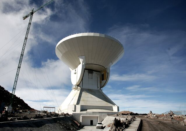 The Large Millimeter Telescope (LMT) on the Sierra Negra volcano, in the Mexican state of Puebla (File)