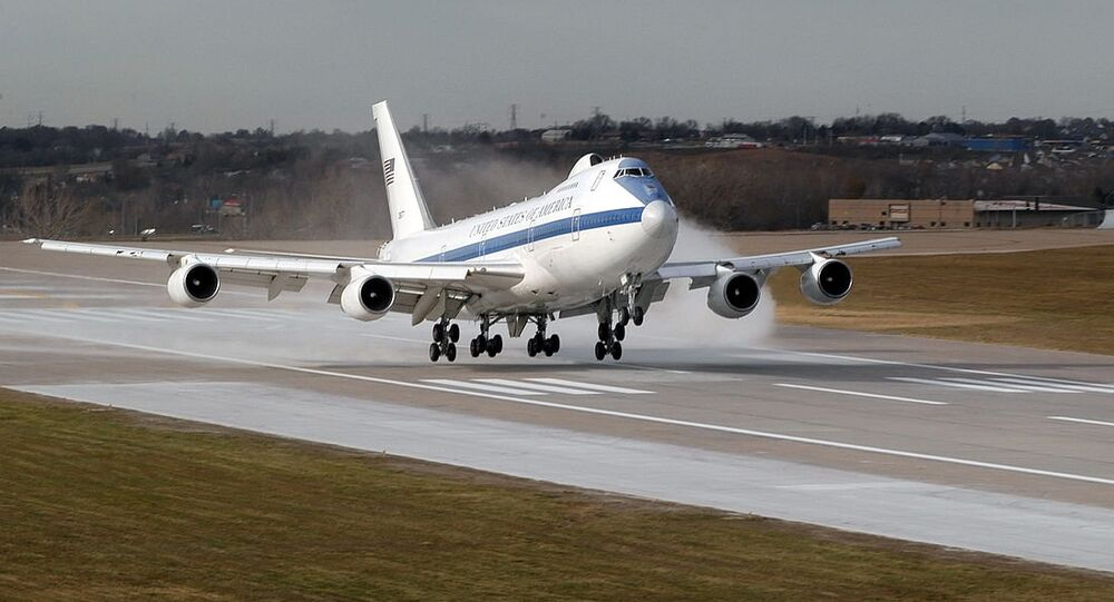 Is It Today Us Doomsday Plane Takes Off Amid Tensions In Syria