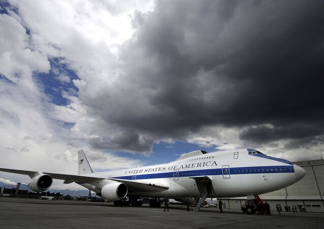 A Boeing E-4B at Bogota Airport in Colombia