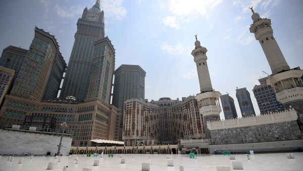 View of Abraj Al bait complex from the roof of the Masjid al-Haram mosque, Mecca - Sputnik International