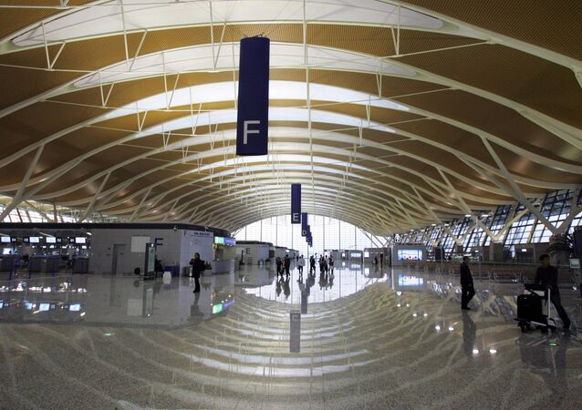Terminal of the Pudong International Airport. (File)