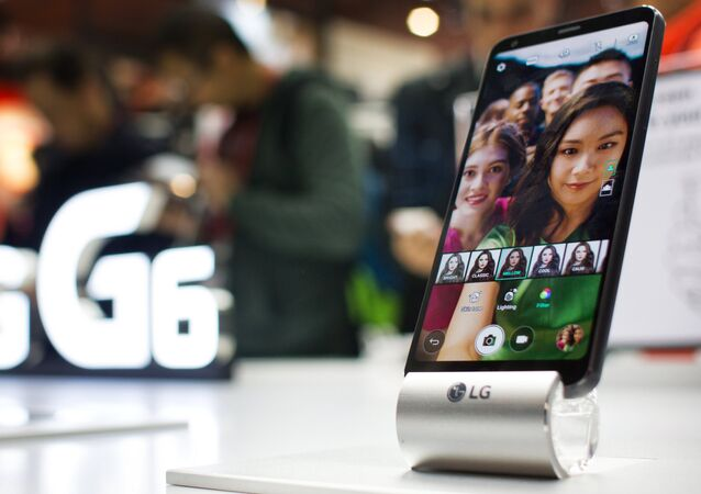 A new LG G6 mobile phone presented at the Mobile World Congress 2017 exhibition in Barcelona. File photo