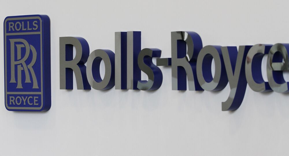 A Rolls-Royce logo at the Rolls-Royce Crosspointe manufacturing and research facility in Prince George, Va., Monday, May 2, 2011. The plant was built to produce disks for new generation turbofan engines.