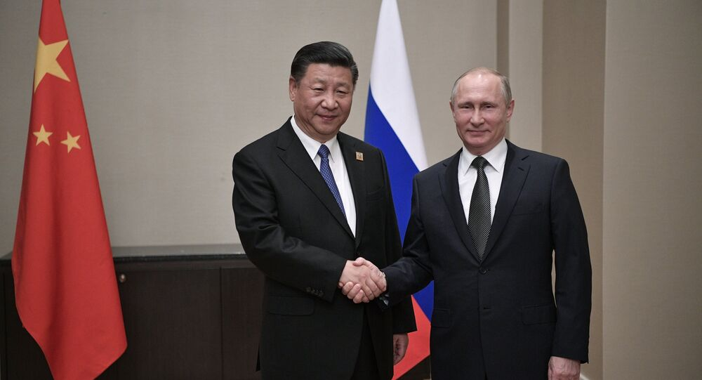 Russian President Vladimir Putin and Xi Jinping, President of the People's Republic of China (File)