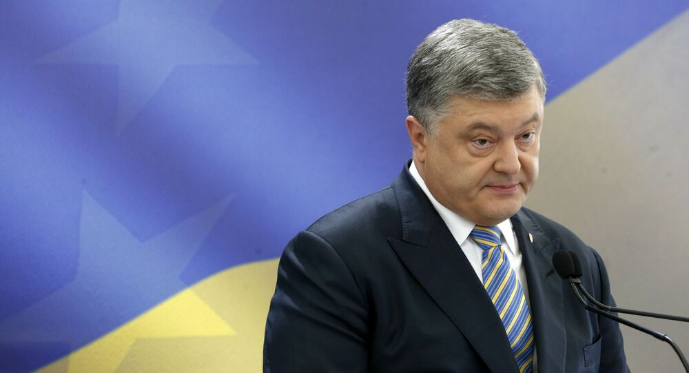 Ukrainian President Petro Poroshenko speaks during a news conference in Kiev, Ukraine (File)