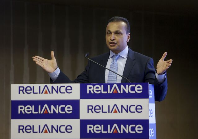 Reliance Group Chairman Anil Ambani speaks during a press conference in Mumbai, India, Friday, June 02, 2017