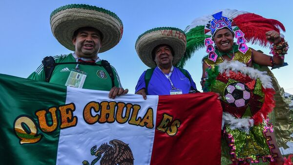 Football fans before the 2017 FIFA Confederations Cup semifinal match between Portugal and Chile - Sputnik International