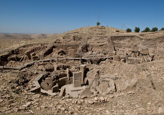 The ruins of Göbekli Tepe