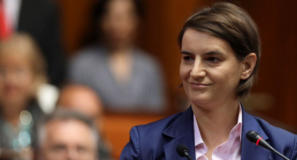 Serbia's Prime Minister designate Ana Brnabic smiles during a parliament session in Belgrade, Serbia June 28, 2017