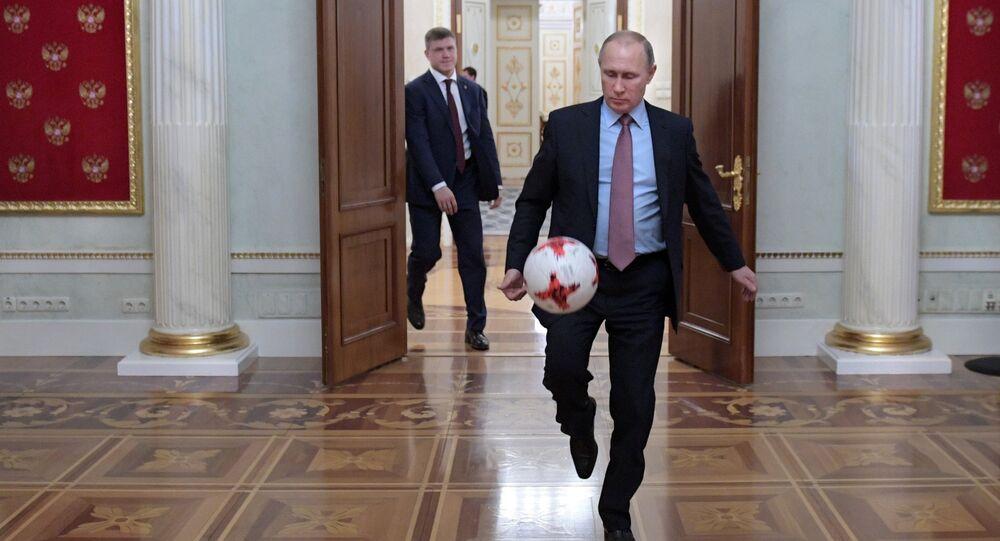 President Putin meets with FIFA president Giovanni Infantino