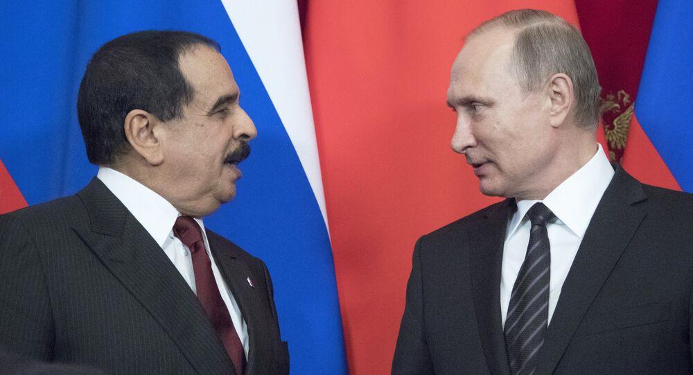 Vladimir Putin meets with King Hamad bin Isa Al Khalifa of Bahrain. File photo
