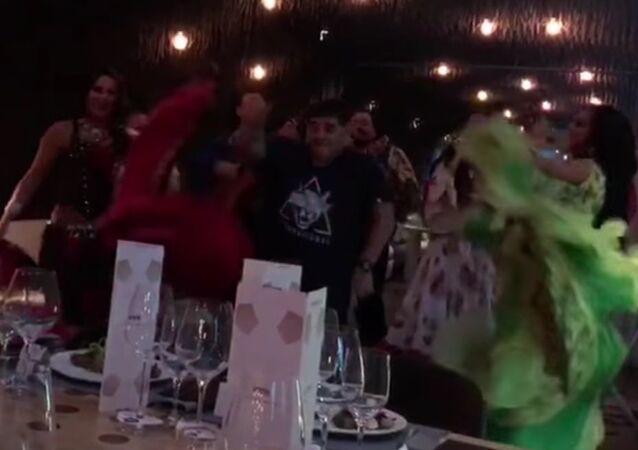 Maradona Dances with Gipsies in Moscow