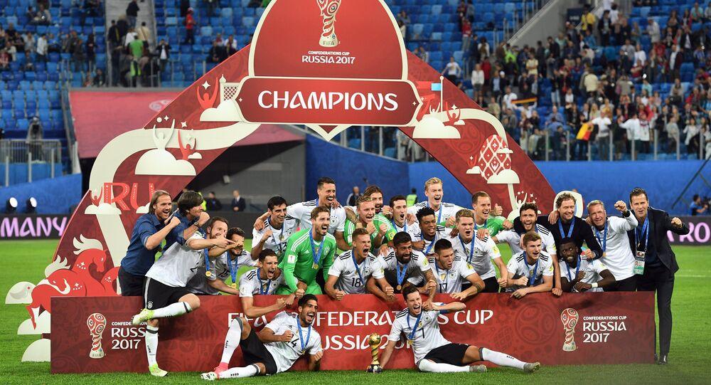 Football. 2017 FIFA Confederations Cup. Medal ceremony