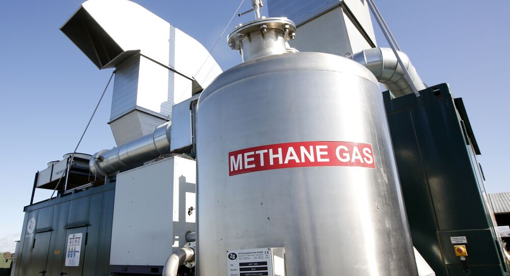 Methane digester at the New Hope Dairy in Galt, Calif. (File)