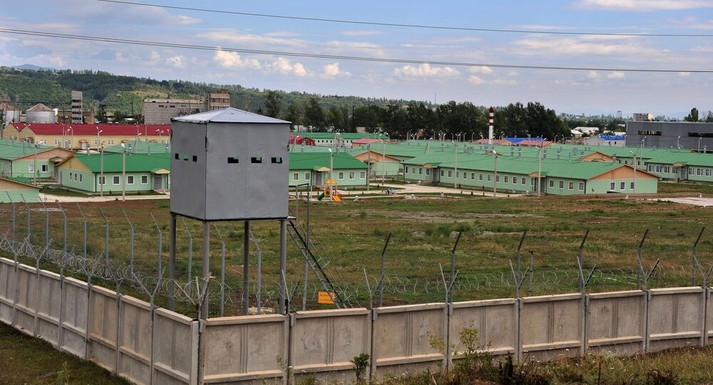 The compound of the Russian military base in Tskhinvali, South Ossetia