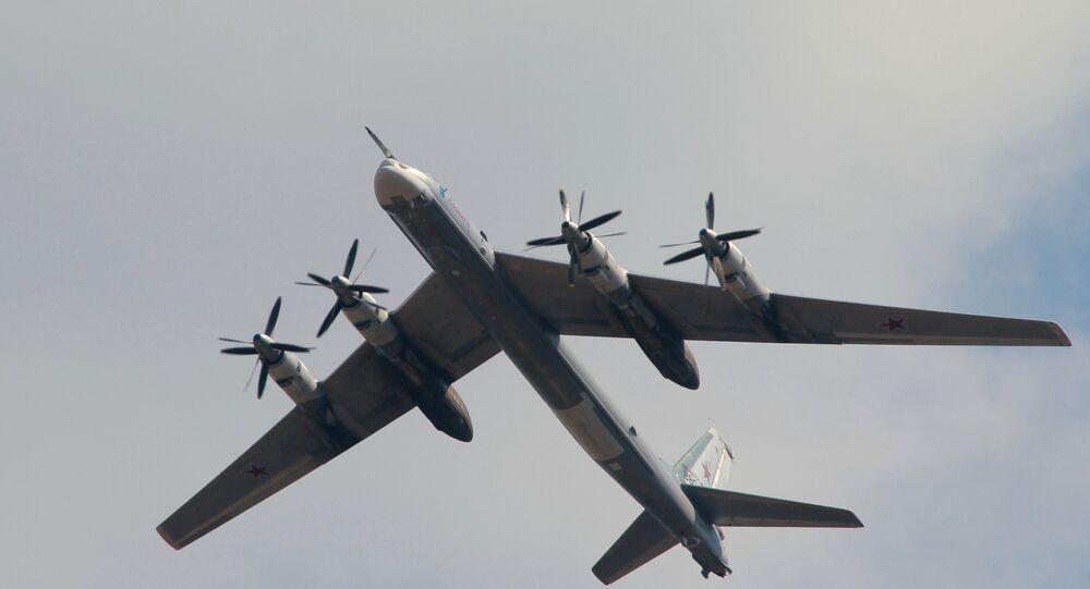 The Tupolev Tu-95M strategic missile carrying bomber