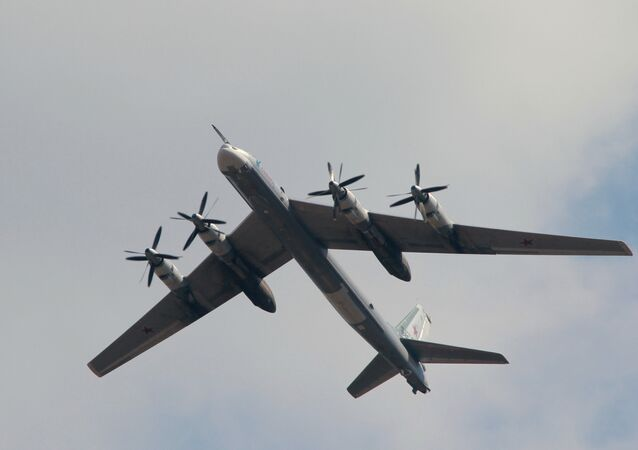 The Tupolev Tu-95M strategic missile carrying bomber
