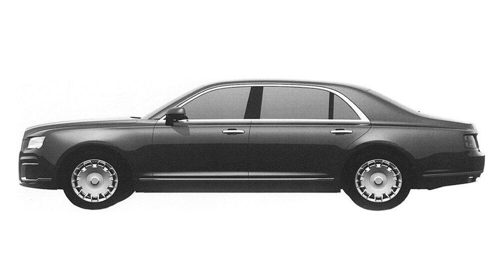 Prospective exterior design of the sedan in the Kortezh ('Cortege') project
