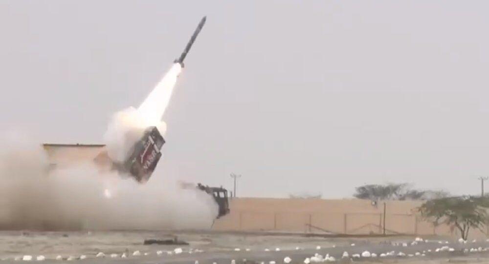 Pakistan Army firing NASR missile, July 2017