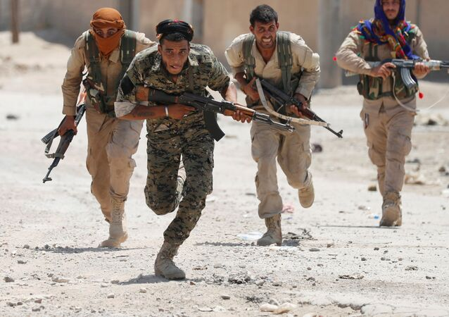 Kurdish Fighters from the People's Protection Units (YPG) in Syria