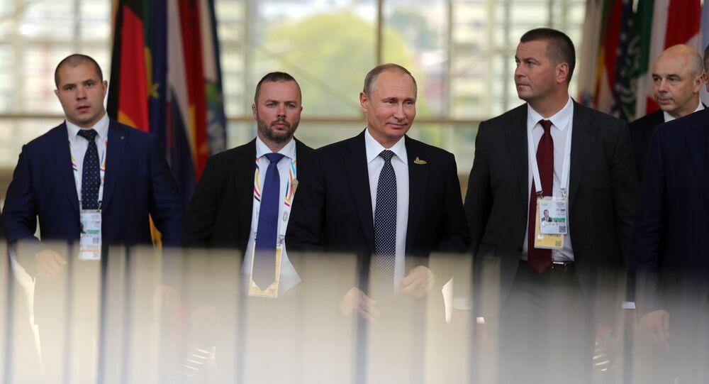 President Vladimir Putin attends G20 summit in Hamburg