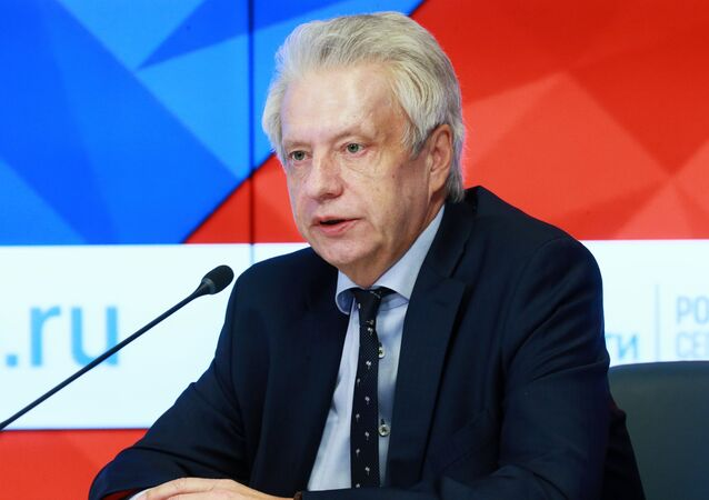 Nikolai Kovalev, member of the Russian State Duma Committee on Security and Anti-Corruption, at the news conference on the participation of the Russian delegation in a meeting of OSCE Parliamentary Assembly, at the Rossiya Segodnya International Multimedia Press Center