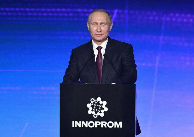 Russian President Vladimir Putin visits Yekaterinburg
