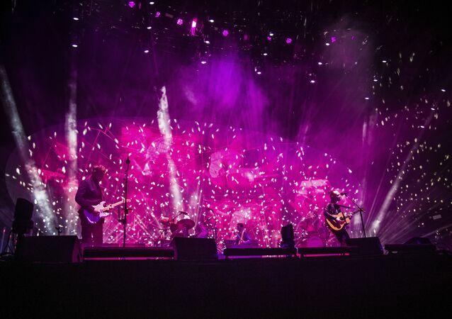 Radiohead perform at Coachella Music & Arts Festival at the Empire Polo Club on Friday, April 14, 2017, in Indio, California.