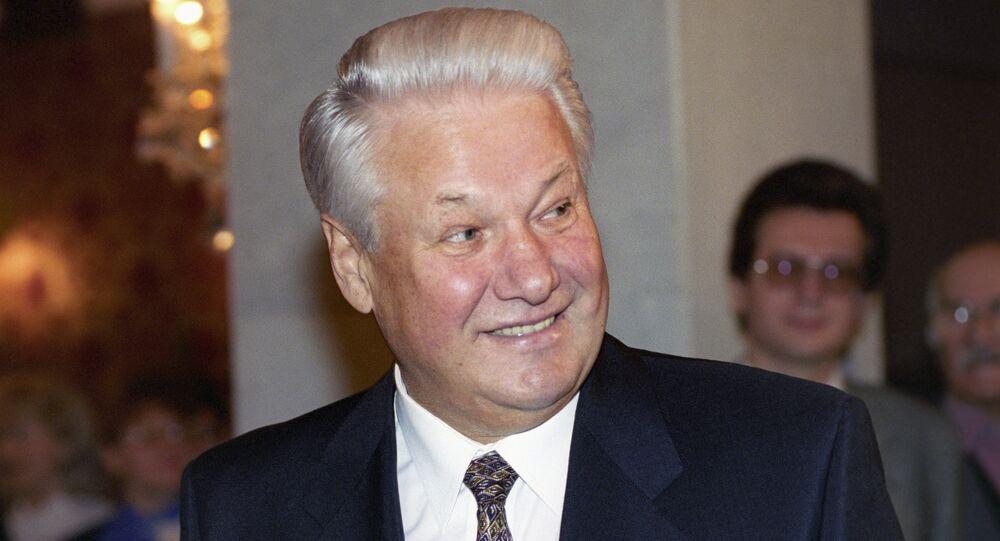 Former Russian president Boris Yeltsin