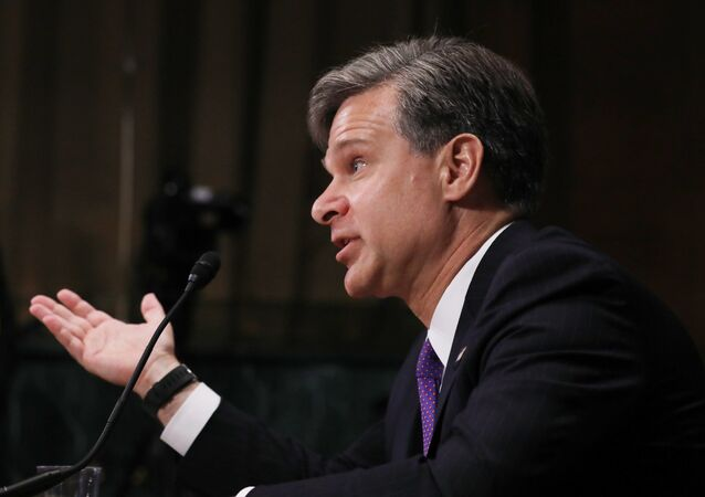 Christopher Wray testifies before a Senate Judiciary Committee confirmation hearing on his nomination to be the next FBI director on Capitol Hill in Washington, U.S., July 12, 2017.