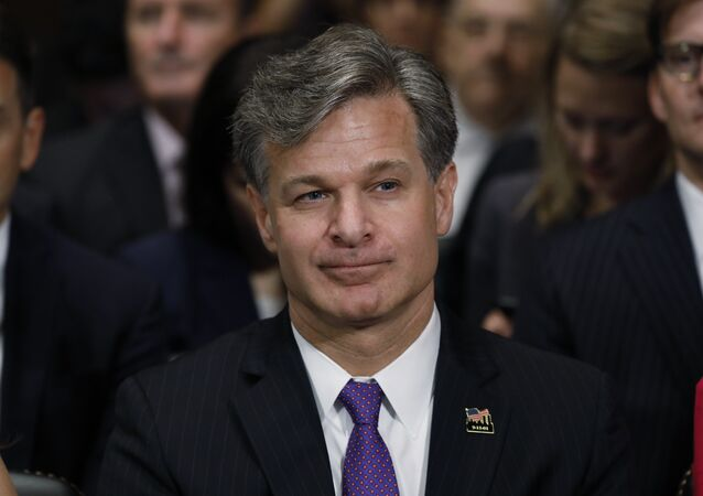 Christopher Wray is seated prior to testifying before a Senate Judiciary Committee confirmation hearing on his nomination to be the next FBI director on Capitol Hill in Washington, U.S., July 12, 2017.