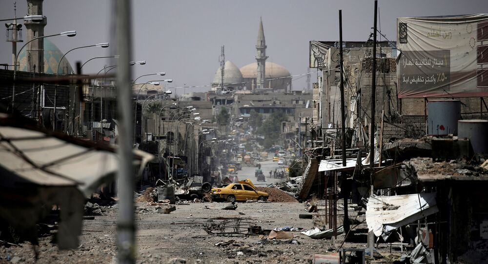 A view of a part of western Mosul, Iraq, May 29, 2017