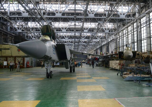 MiG-31 long-range fighter-interceptors at the Sokol Aircraft Building Plant in Nizhny Novgorod. File photo