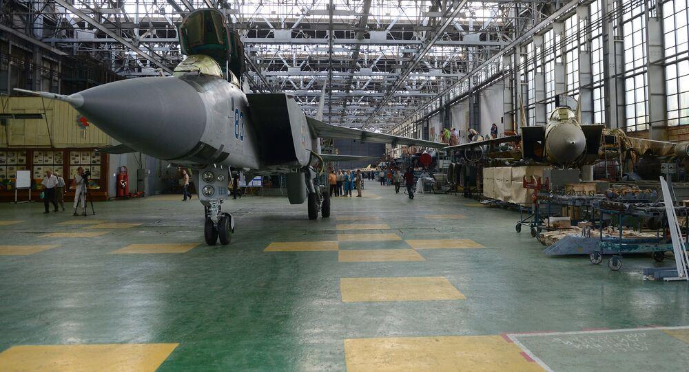 MiG-31 long-range fighter-interceptors at the Sokol Aircraft Building Plant in Nizhny Novgorod. File photo