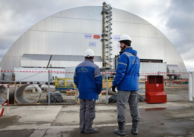 Construction finished of New Safe Confinement structure over Chernobyl Nuclear Power Plant (File)