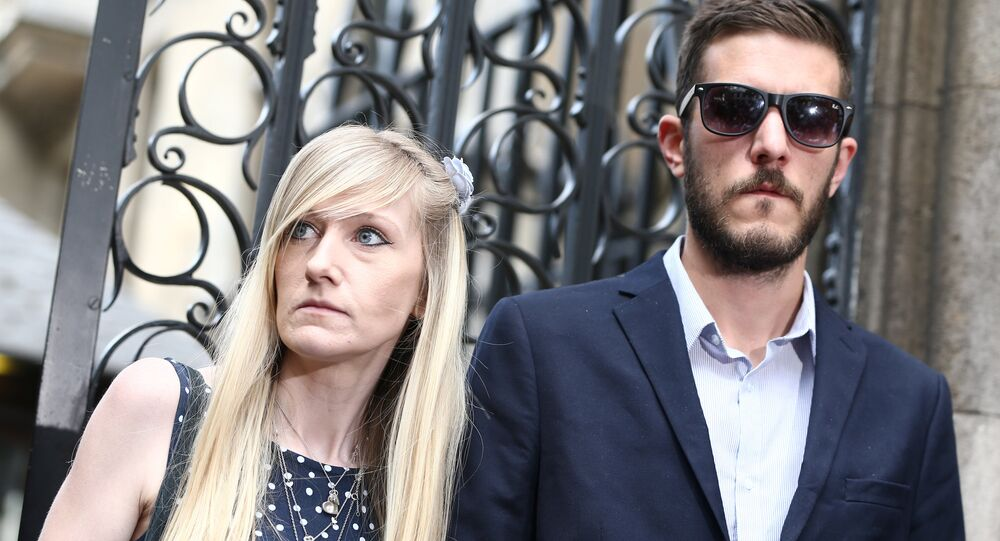 Charlie Gard's parents Connie Yates and Chris Gard leave after a hearing at the High Court in London, Britain July 10, 2017.