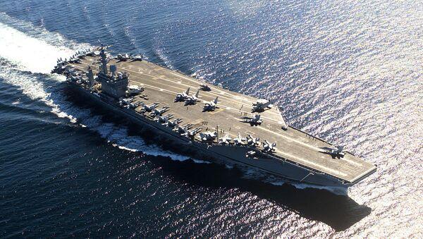 USS Nimitz (CVN-68), a US Navy aircraft carrier - Sputnik International