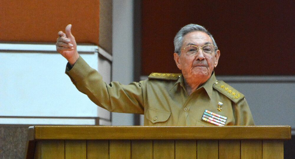 Cuban President Raul Castro participates in the Permanent Working Committees of the National Assembly of the People's Power in Havana, on July 14
