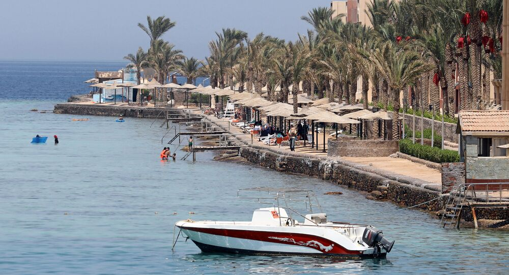 The Sunny Days El Palacio resort, where a knife attack took place, is seen in Hurghada, Egypt July 15, 2017