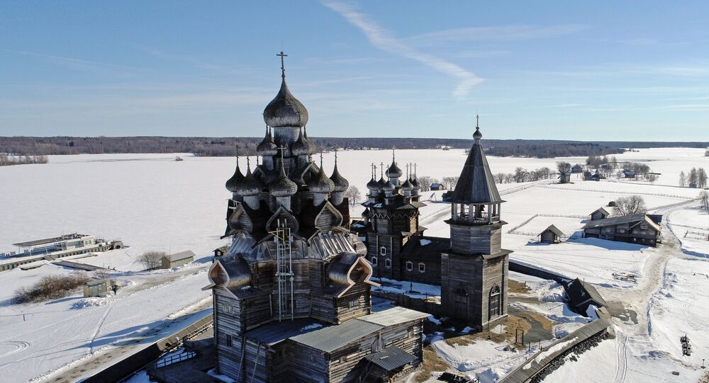 The Holy Transfiguration of Jesus Church in the Kizhi open-air museum