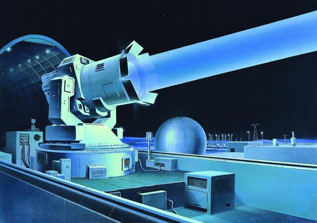 Soviet-ground based laser installation. Illustration by the Defense Intelligence Agency