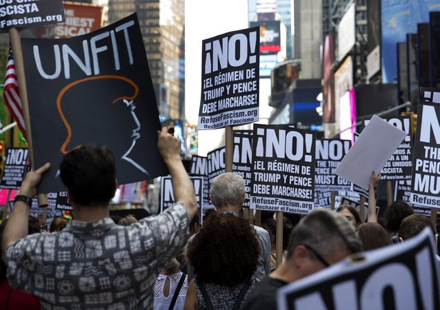 Protest against Donald Trump in the United States of America