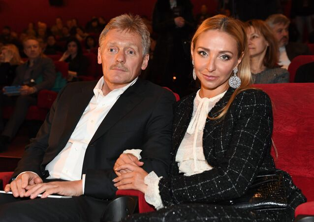 Kremlin Deputy Chief of Staff and Kremlin spokesman, Dmitry Peskov, and his wife Tatyana Navka (File)