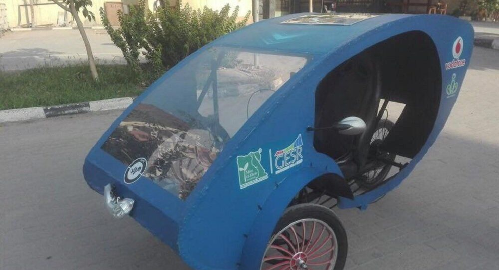 Electric vehicle made by Helwan University students