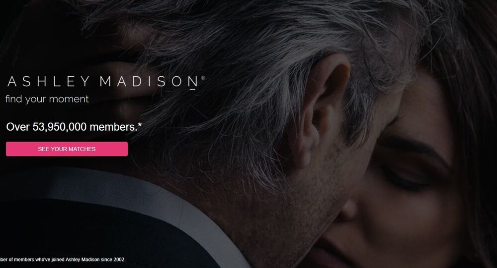 Screenshot of Ashley Madison website