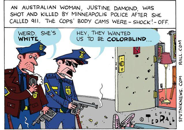 Minneapolis 911 Police Cartoon