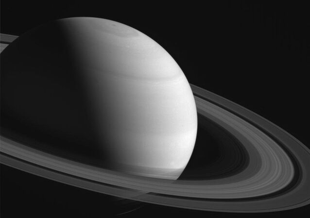 NASA's Cassini spacecraft takes image of Saturn.