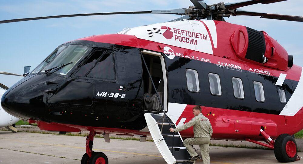 Mi-38-2 Helicopter, MAKS-2017 internatonal airshow in Zhukovsky