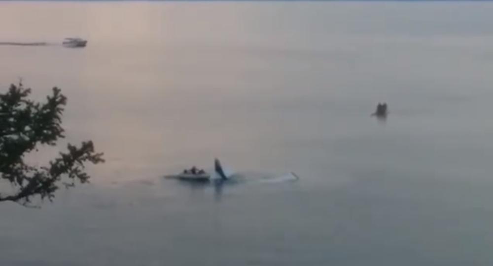 A Cessna 172R plummeted into Lake Baikal, July 18 2017.