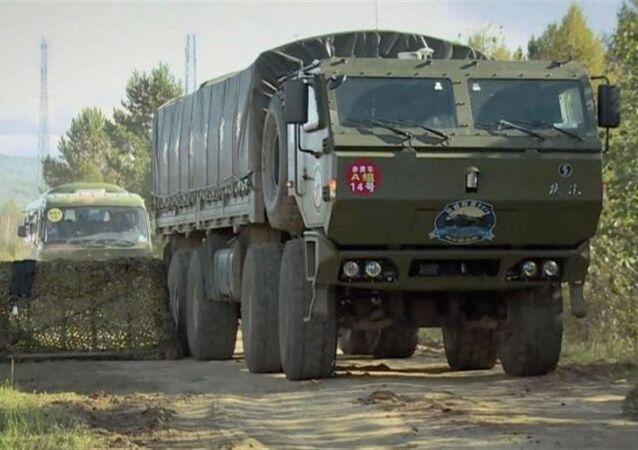 China Ministry of Defense (MND) video from July 16, 2017 shows its autonomous military supply vehicle.
